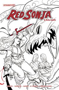 [Red Sonja: 2021 #3 (Cover F Andolfo Black & White) (Product Image)]