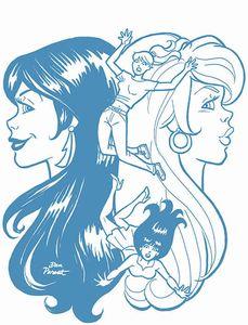 [Red Sonja & Vampirella Meet Betty & Veronica #8 (Parent Blue Tint Variant) (Product Image)]