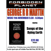 [George R R Martin Signing Songs of the Dying Earth (Product Image)]