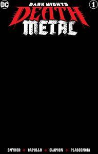 [Dark Nights: Death Metal #1 (Black Blank Variant) (Product Image)]