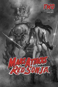 [Mars Attacks/Red Sonja #2 (Parrillo Black & White Variant) (Product Image)]