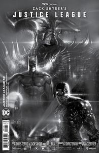 [Justice League #59 (Snyder Cut Liam Sharp Black & White  Card Stock Variant) (Product Image)]