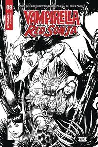 [Vampirella/Red Sonja #8 (Gorham Black & White Homage Variant) (Product Image)]
