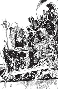 [Once & Future #14 (Cover B Mora Black & White Variant) (Product Image)]