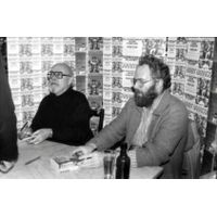 [Harry Harrison Signing Bill, The Galactic Hero on the Planet of Robot Slaves (Product Image)]