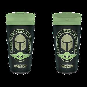 [Star Wars: The Mandalorian: Metal Travel Mug: Stronger Than You Think (Product Image)]