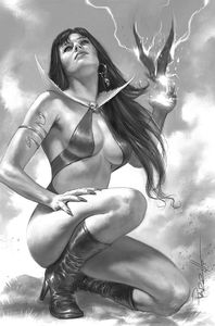 [Vengeance Of Vampirella #17 (Parrillo B&W Virgin Variant) (Product Image)]