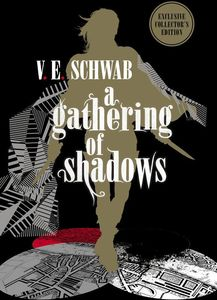 [A Gathering Of Shadows (Signed Forbidden Planet Exclusive Collector's Edition Hardcover) (Product Image)]