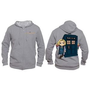 [Doctor Who: Hoodie: 13th Doctor Kawaii TARDIS (SDCC 2018) (Product Image)]
