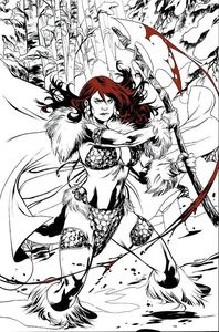 [Red Sonja: Black White Red #1 (Cover M Lupacchino Limited Virgin Variant) (Product Image)]