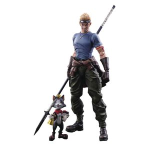 [Final Fantasy VII: Advent Children: Play Arts Kai Action Figure: Cid Highwind & Cait Sith (2-Pack) (Product Image)]