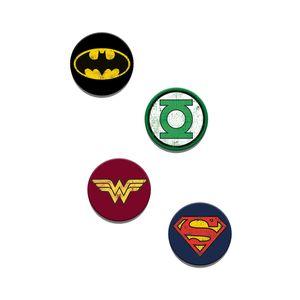 [Justice League: Pin Badge Set: Logos (Product Image)]
