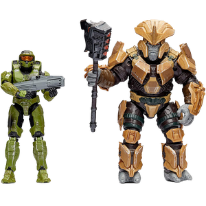 [Halo Infinite: Action Figure 2-Pack: Master Chief VS. Brute Chieftain (Product Image)]