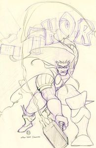 [Thor #6 (Peach Momoko Sketch Variant) (Product Image)]