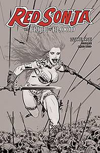 [Red Sonja: Price Of Blood #1 (Golden Black & White Variant) (Product Image)]