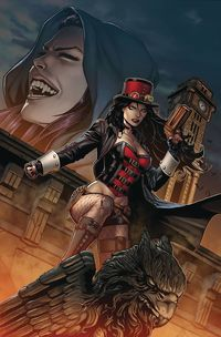 [The cover for Van Helsing Vs Draculas Daughter #3 (Cover A Spay)]