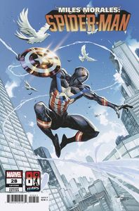 [Miles Morales: Spider-Man #28 (Coello Captain America 80th Variant) (Product Image)]