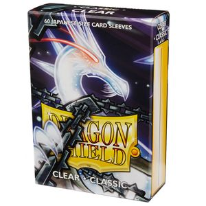 [Dragon Shield: Japanese Classic Sleeves 60 Pack: Clear (Product Image)]
