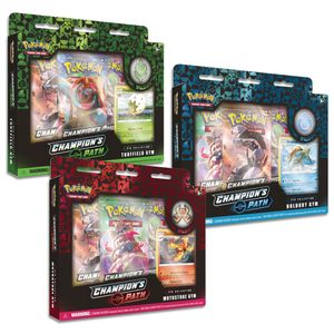 [Pokemon: Trading Card Game: Champions Path: Turffield, Hulbury & Motostoke Gyms Pin Collection (Product Image)]