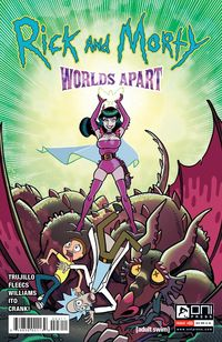 [The cover for Rick & Morty: Worlds Apart #3 (Cover A Fleecs)]