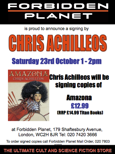 Chris Achilleos Signing Amazona