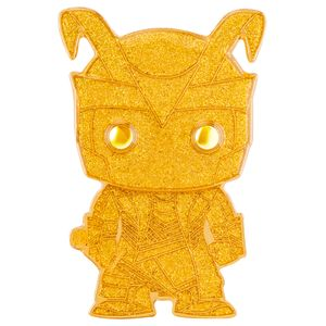 [Marvel: Loungefly Large Enamel Pop! Pin: Loki (Yellow Glitter Chase Variant) (Product Image)]