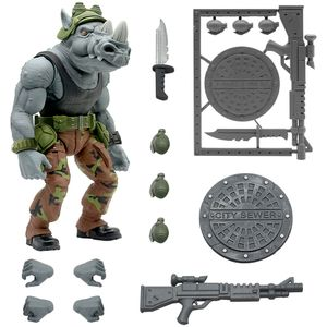 [Teenage Mutant Ninja Turtles: Ultimates Action Figure: Rocksteady (Product Image)]