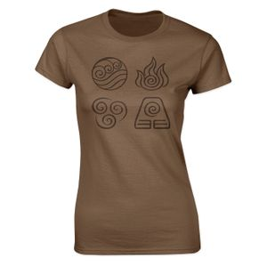 [Avatar The Last Airbender: Women's Fit T-Shirt: All Elements (Sand) (Product Image)]