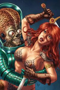 [Mars Attacks/Red Sonja #1 (Quah Virgin Variant) (Product Image)]