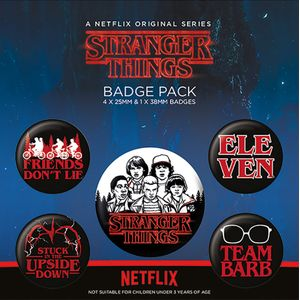 [Stranger Things: Characters Badge Pack (Product Image)]