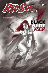 [Red Sonja: Black White Red #5 (Cover A Parrillo) (Product Image)]