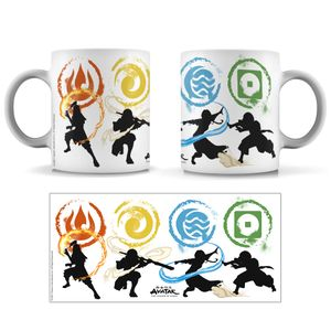 [Avatar: The Last Airbender: Mug: Benders Of The Elements (Product Image)]