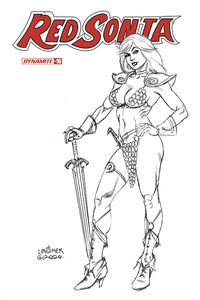 [Red Sonja #16 (Linsner Black & White Variant) (Product Image)]