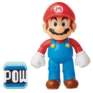 [World Of Nintendo: Action Figure: Mario With Pow Block (Product Image)]