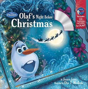 [Frozen Olaf's Night Before Christmas Book & CD (Product Image)]