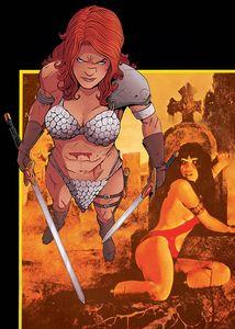 [Vampirella Red Sonja #2 (Moss Virgin Variant) (Product Image)]