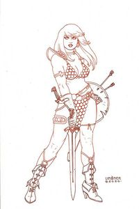[Red Sonja #18 (Linsner Tint Virgin Variant) (Product Image)]