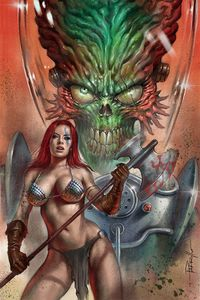 [Mars Attacks/Red Sonja #1 (Parrillo Limited Virgin Variant) (Product Image)]