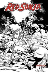 [Red Sonja #18 (Castro Black & White Variant) (Product Image)]