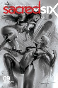 [Sacred Six #9 (Parrillo Black & White Variant) (Product Image)]