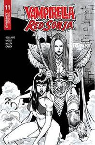 [Vampirella/Red Sonja #11 (Peeples Black & White Homage Variant) (Product Image)]
