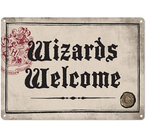 [Harry Potter: Tin Sign Small: Wizards Welcome (Product Image)]
