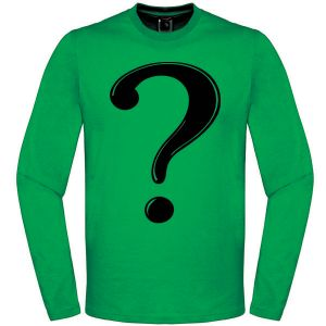 [Batman: Long Sleeved T-Shirts: The Riddler (Product Image)]
