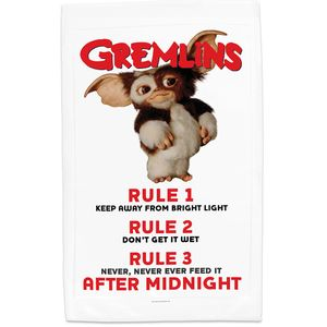 [Gremlins: Tea Towel: Gizmo Rules (Product Image)]