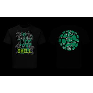 [Teenage Mutant Ninja Turtles: Children's T-Shirt: Half Shell Quote (Line Art) (Product Image)]