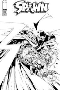 [Spawn #300 (Cover F Black & White Capullo & Mcfarlane) (Product Image)]