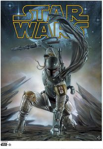[Star Wars: Giclee Print: Boba Fett (Launch Logo Limited Edition) (Product Image)]
