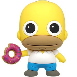 [The Simpsons: 3D Foam Magnet: Homer With Donut (Product Image)]
