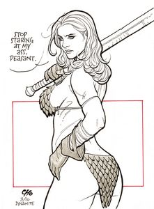 [Invincible Red Sonja #1 (Cho Virgin Variant) (Product Image)]