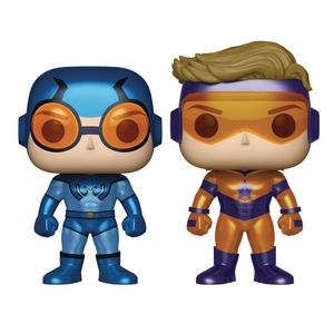 [DC: Pop! Vinyl Figure: Booster Gold & Blue Beetle Metallic 2-Pack (Product Image)]
